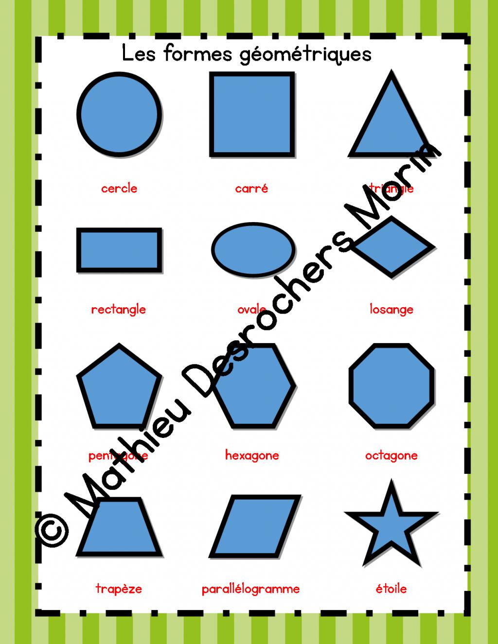 affiches des formes g om triques la boutique de mathieu ressources p dagogiques pour les. Black Bedroom Furniture Sets. Home Design Ideas