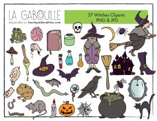 witches clipart-page-001