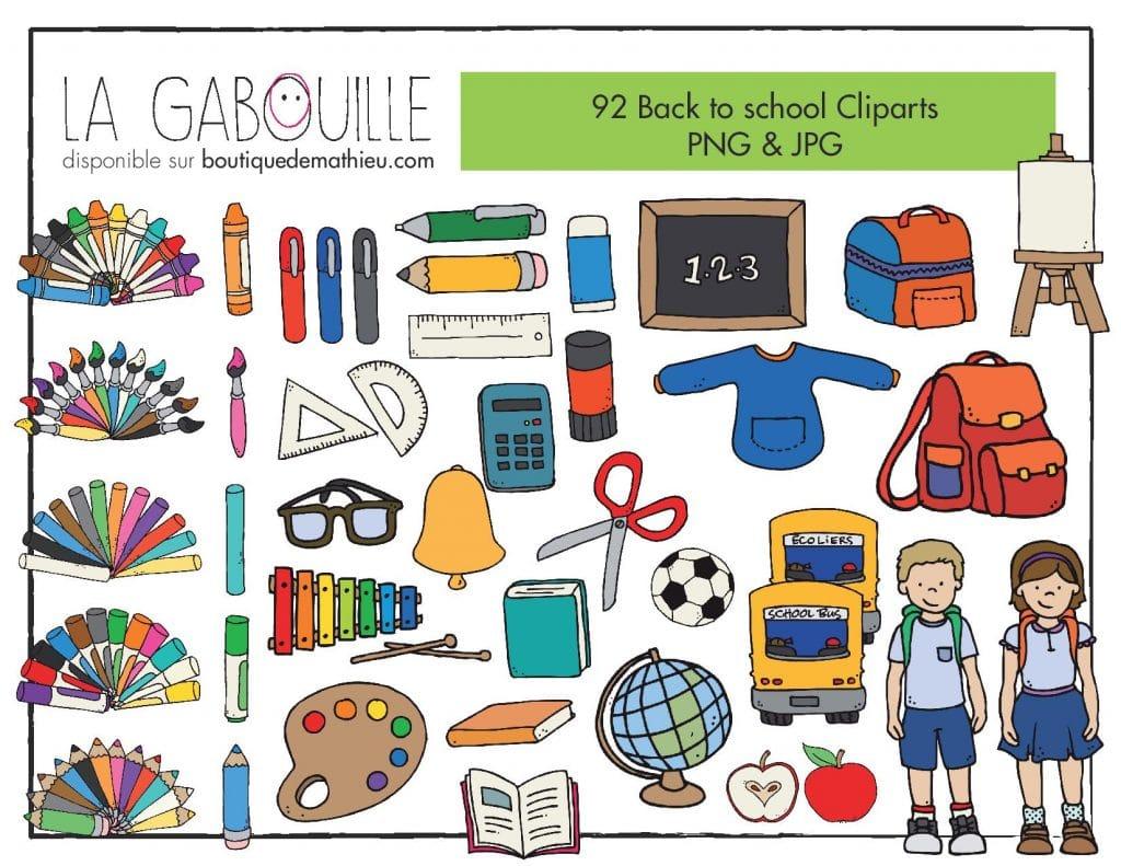92 Cliparts Retour A L Ecole Rentree Scolaire La Boutique De Mathieu Ressources Pedagogiques Pour Les Enseignants