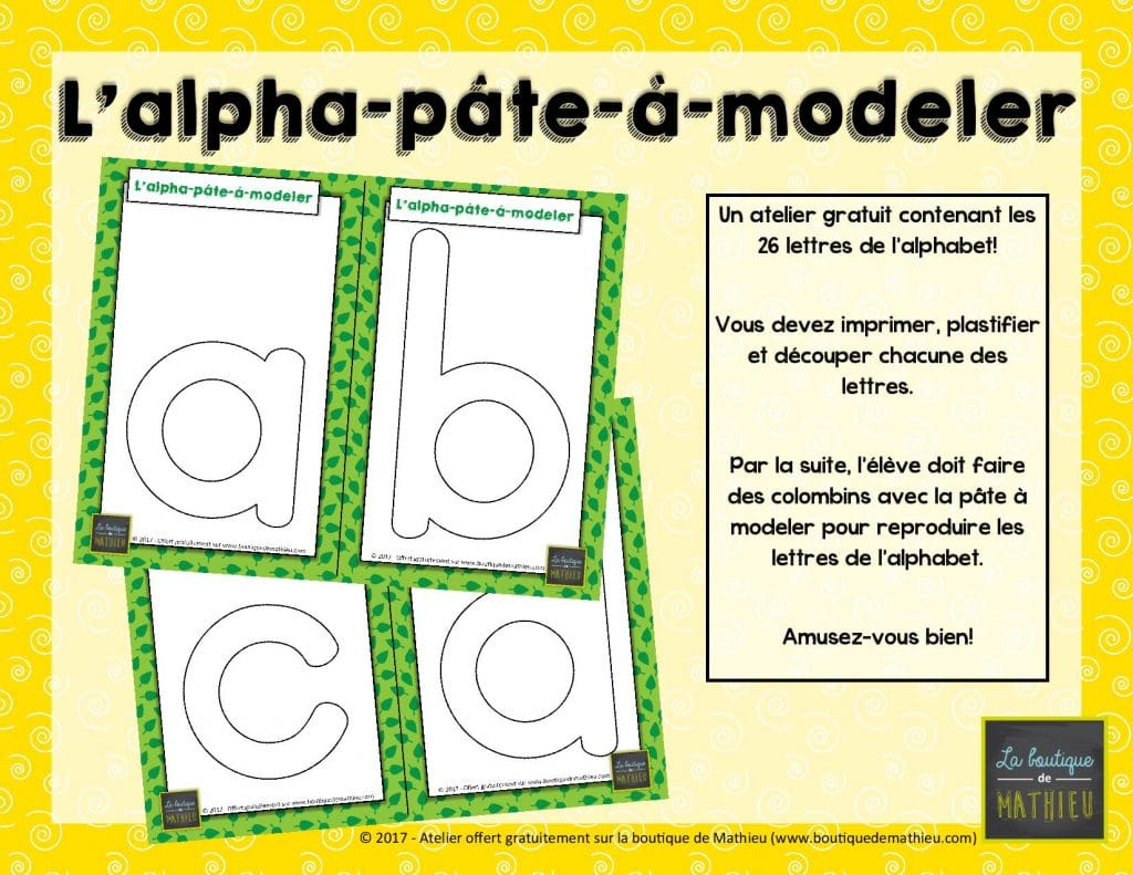 L Alpha Pâte à Modeler Atelier Gratuit