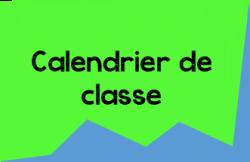Calendrier de classe