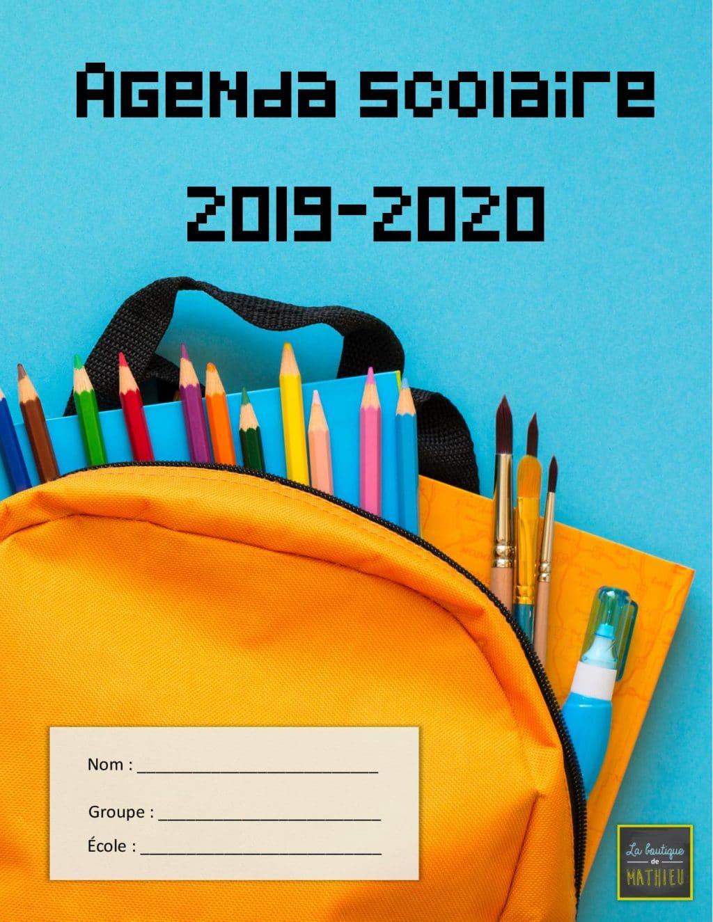 """Résultat de recherche d'images pour """"agenda primaire 2019"""""""